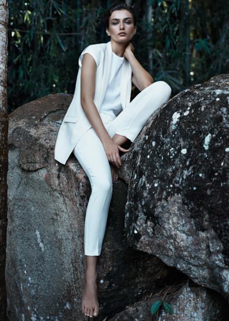 Mango blanco catalogo verano 2014 Andreea Diaconu