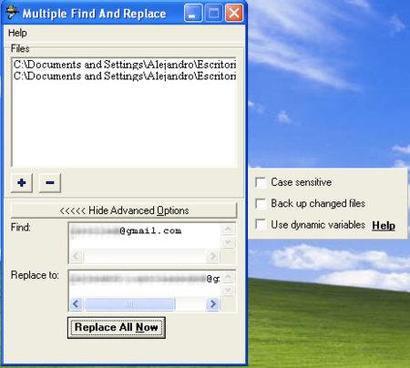 Multiple Find and Replace, buscar y reemplazar en varios archivos a la vez