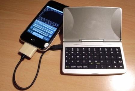 Teclado físico para el iPhone