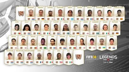 Lista con las leyendas de 'FIFA 14' [GC 2013]