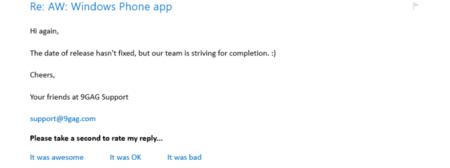 La aplicación oficial de 9GAG estaría en camino, pero sin fecha de lanzamiento