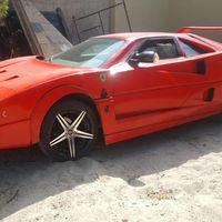 ¿Cuál es la relación entre un Ferrari F40 y un Nissan Sentra?  Esta réplica que está a la venta