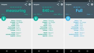 Ampere, una aplicación para medir el amperaje de carga de nuestros dispositivos