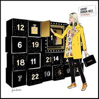 El calendario de adviento de tamaño natural de Chanel en su boutique de Covent Garden