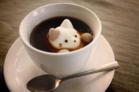 Me ha parecido ver un lindo gatito en mi taza de café