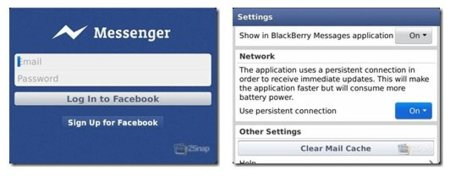 Facebook Messenger para BlackBerry