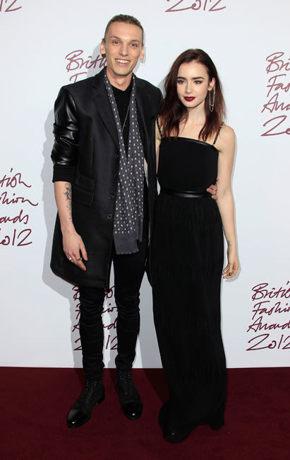Jamie Campbell Bower and Lilly Collins