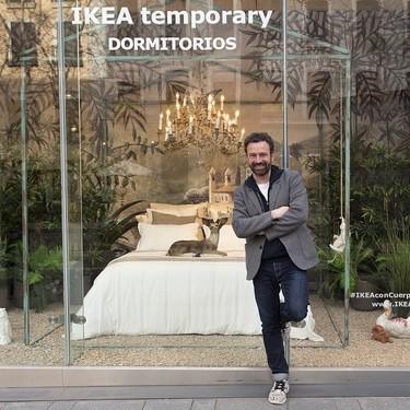 Guille García-Hoz interpreta su dormitorio ideal en el escaparate de IKEA Serrano