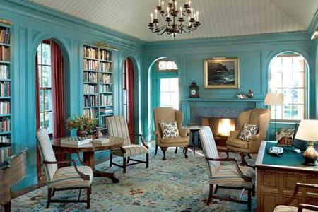 paredes azul turquesa