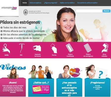 Anticonceptivoshoy.com es un sitio informativo en Internet que explica a los jóvenes los métodos anticonceptivos hormonales