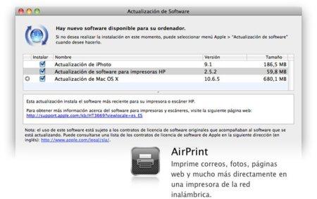 ¿Actualización de Mac OS X 10.6.5 sin AirPrint? No para todos