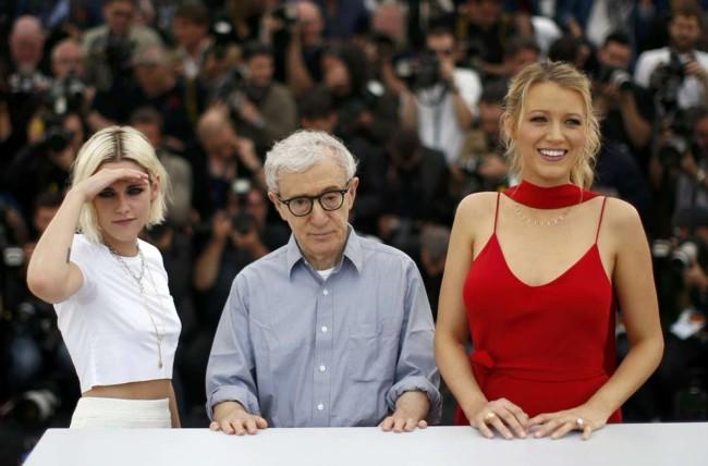 Kristen Stewart, Woody Allen y Blake Lively en el Festival de Cannes 2016