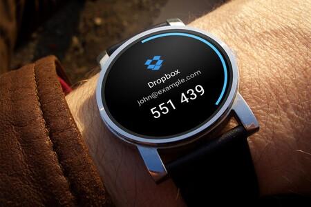 Los códigos de verificación en dos pasos en tu smartwatch con Authenticator Pro, compatible con Wear OS