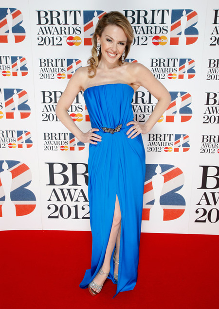 Kylie Minogue at the Brit Awards 2012