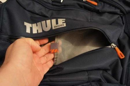 Detalle del bolsillo de malla