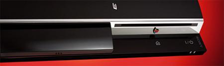 PS3 sobre fondo rojo