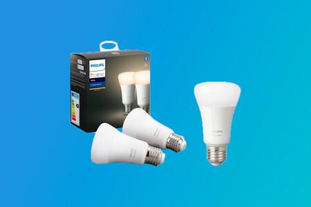 """Renueva la iluminación de tu hogar con el pack de tres bombillas """"inteligentes"""" Philips Hue White por 39,91 euros en PcComponentes"""