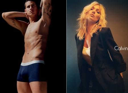 El futbolista James y la top Kate Moss, la pareja perfecta de la última campaña de Calvin Klein
