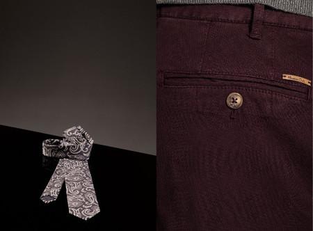 Massimo dutti pantalon burgundy