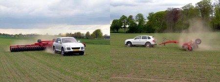 Lo mejor para arar el campo: Porsche Cayenne