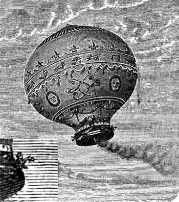 Mongolfier Brothers Hot Air Balloon From 1783