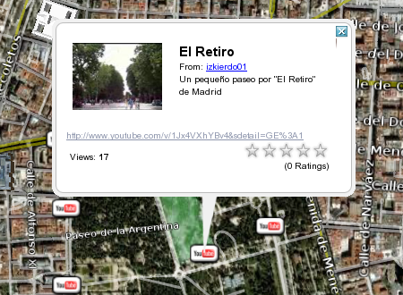 Google Earth te permite ver vídeos de Youtube geolocalizados