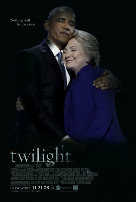 Barack Obama Hillary Clinton Hug Photoshop Battle 13