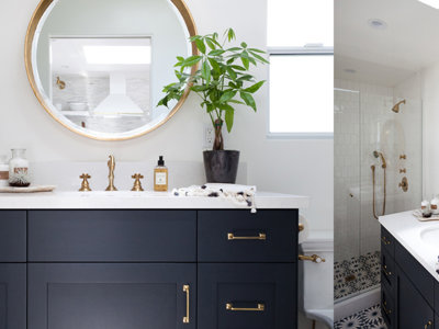 11 baños sorprendentes con detalles en dorado