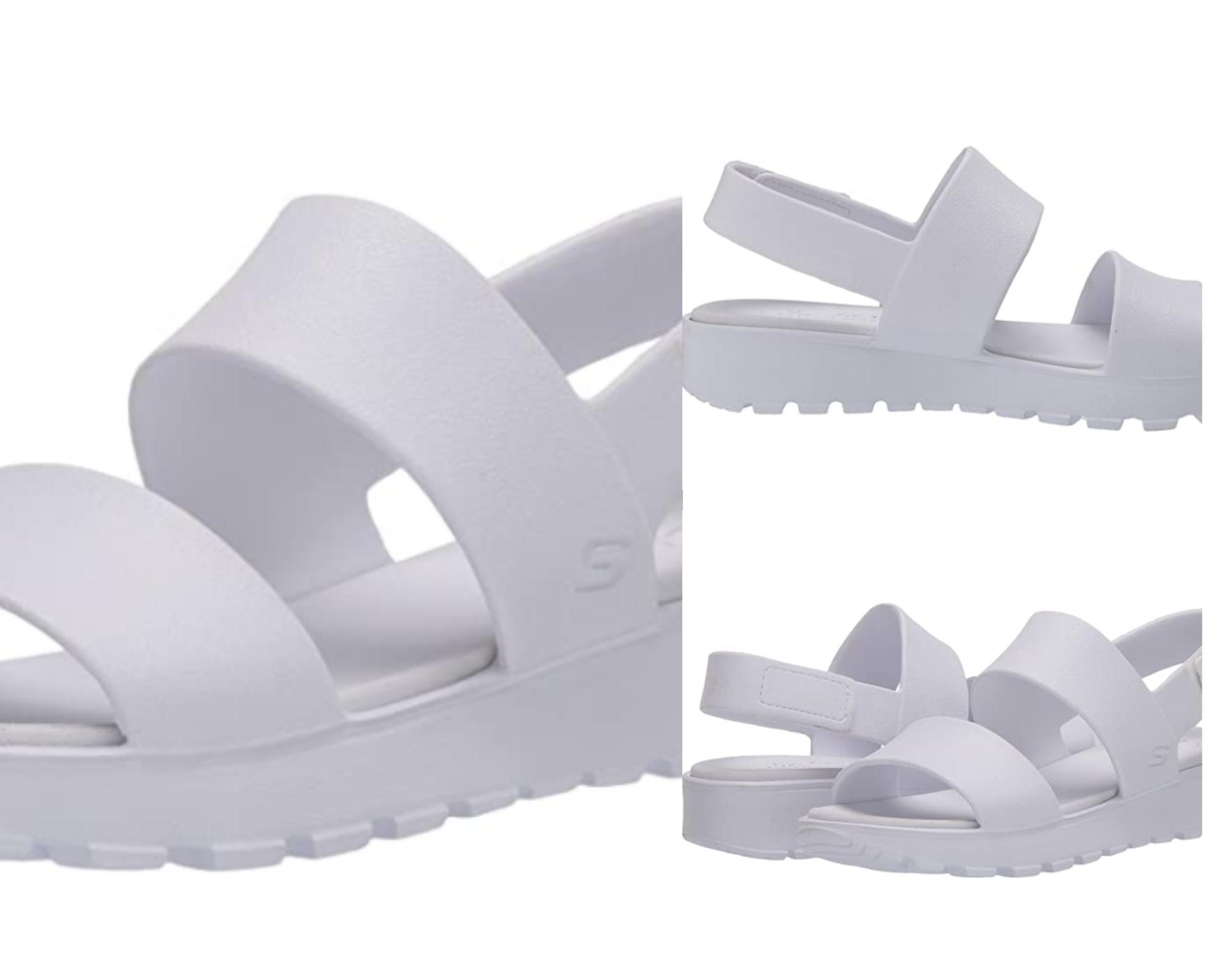 Skechers Footsteps-Breezy Feels, Sandalias de Talón Abierto Mujer