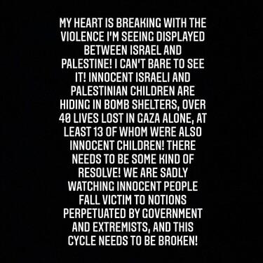 El conflicto entre Israel y Palestina explicado a través de los post de denuncia de cinco celebs