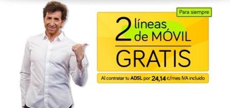Jazztel redobla sus esfuerzos en la oferta convergente con dos líneas móviles gratis