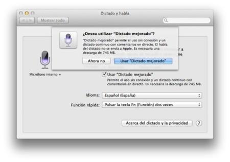 Dictado OS X