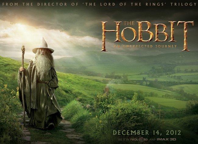 Ian McKellen como Gandalf en un banner de El Hobbit