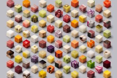 ¿Serías capaz de tallar 98 cubos de comida cruda?