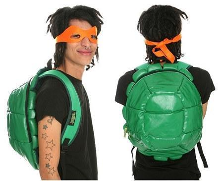 Mochila-caparazón de tortuga