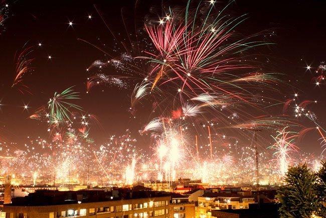 Fuegos de Nochevieja 2010, por Carlos Olmedillas