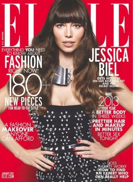 Jessica Biel, quién quiere Papa Noël cuando te tenemos a ti en Elle: ¡toma pareado!