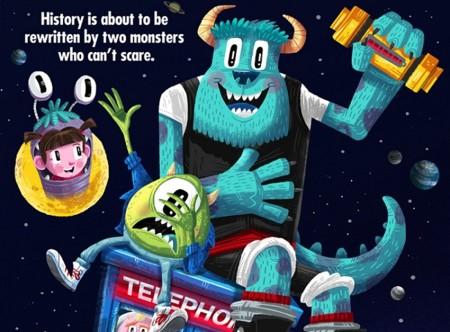 Los personajes de Pixar protagonizan clásicos de los 80 en estos estupendos carteles, la imagen de la semana