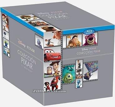 Imagen del pack en bluray de Pixar con 11 títulos de su filmografía