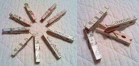 Una buena idea, decorar con pinzas para la ropa