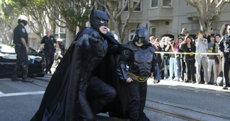San Francisco se convirtió en Gotham por un día para cumplir el deseo de un niño enfermo