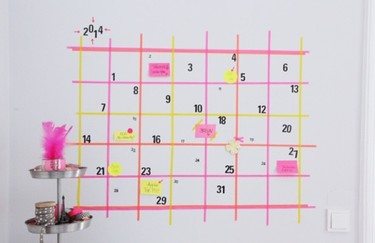 Hazlo tú mismo: un calendario para 2014 con washi tape