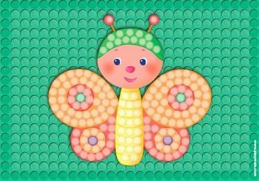 Modelos para hacer mosaicos con piezas de almidón de PlayMais