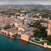 El lago di Garda a vista de dron. Vídeos inspiradores