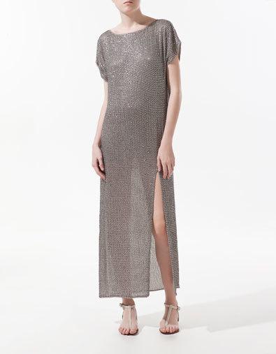 vestido zara lentejuelas