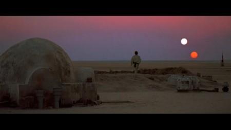 Luke mirando el atardecer