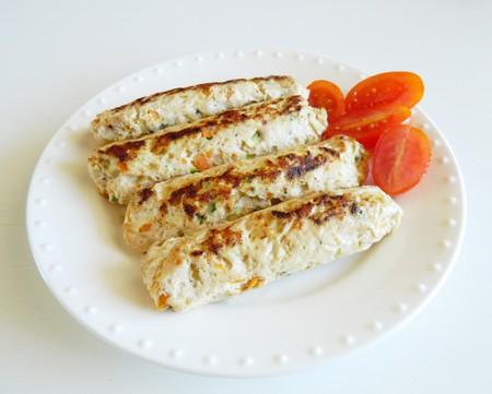 Salchichas De Pollo Y Verduras