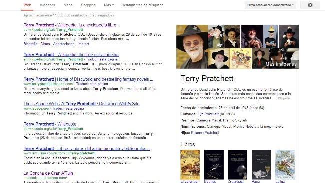 El Knowledge Graph de Google ya está activado en español y en seis idiomas más