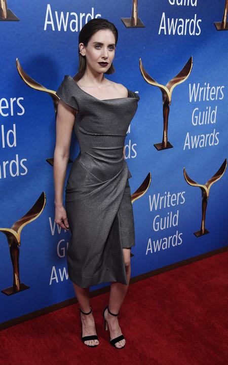 wga awards 2018 alison brie look estilismo outfit