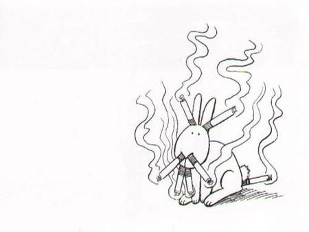 conejito fumador